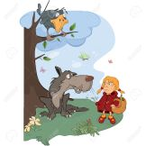 24351314-The-Wolf-and-the-Little-Red-Riding-Hood-cartoon-Stock-Photo
